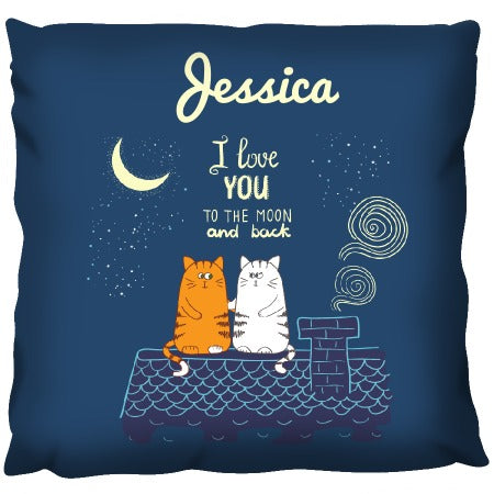 Love to the Moon Cats - Personalized Cushion