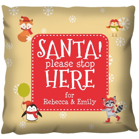 Santa Please Stop - Personalized Cushion