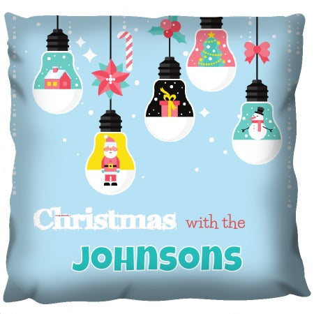 Christmas Bulbs - Personalized Cushion