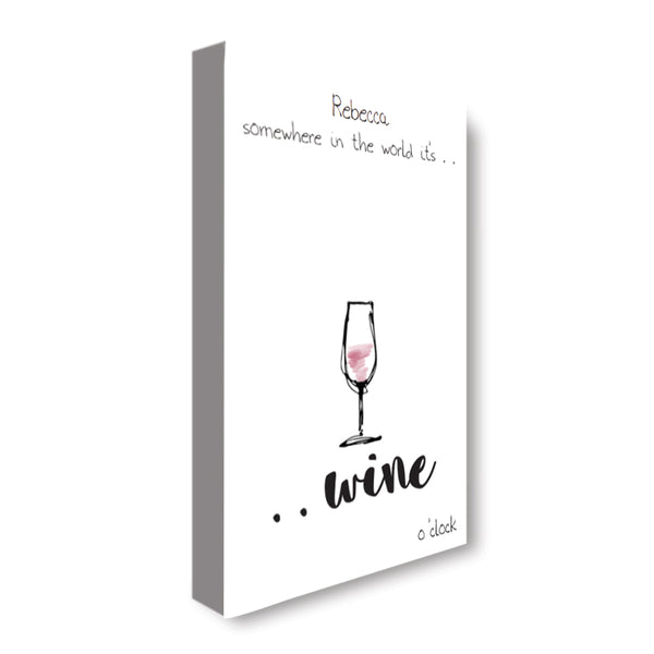Wine O'Clock - Personalized Canvas