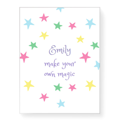 Magic Stars - Personalized Canvas