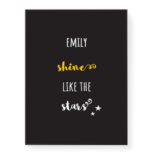 Shine Stars - Personalized Canvas
