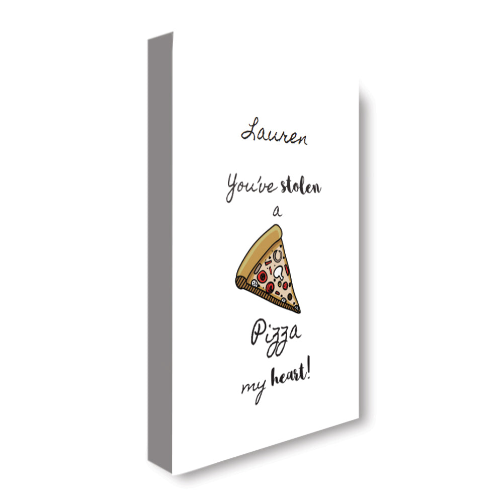 Stolen Pizza - Personalized Canvas