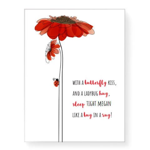 Ladybug Hug - Personalized Canvas