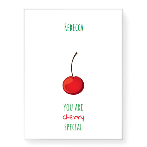 Cherry Special - Personalized Canvas