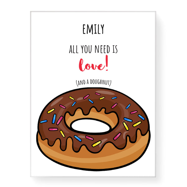 Love Doughnut - Personalized Canvas