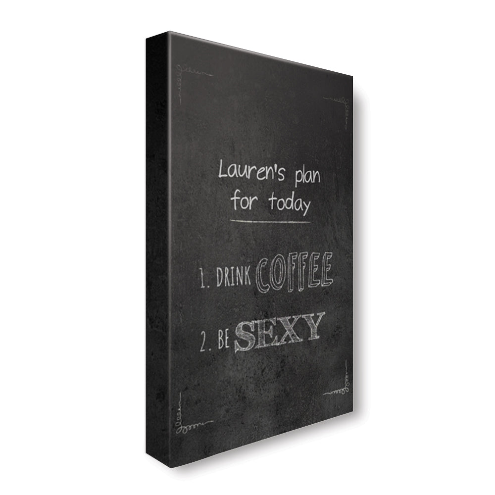 Sexy Coffee - Personalized Canvas