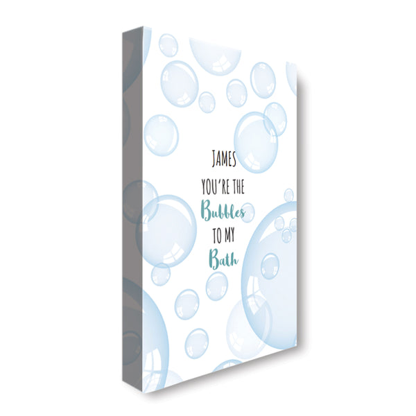 Bubble Bath - Personalized Canvas