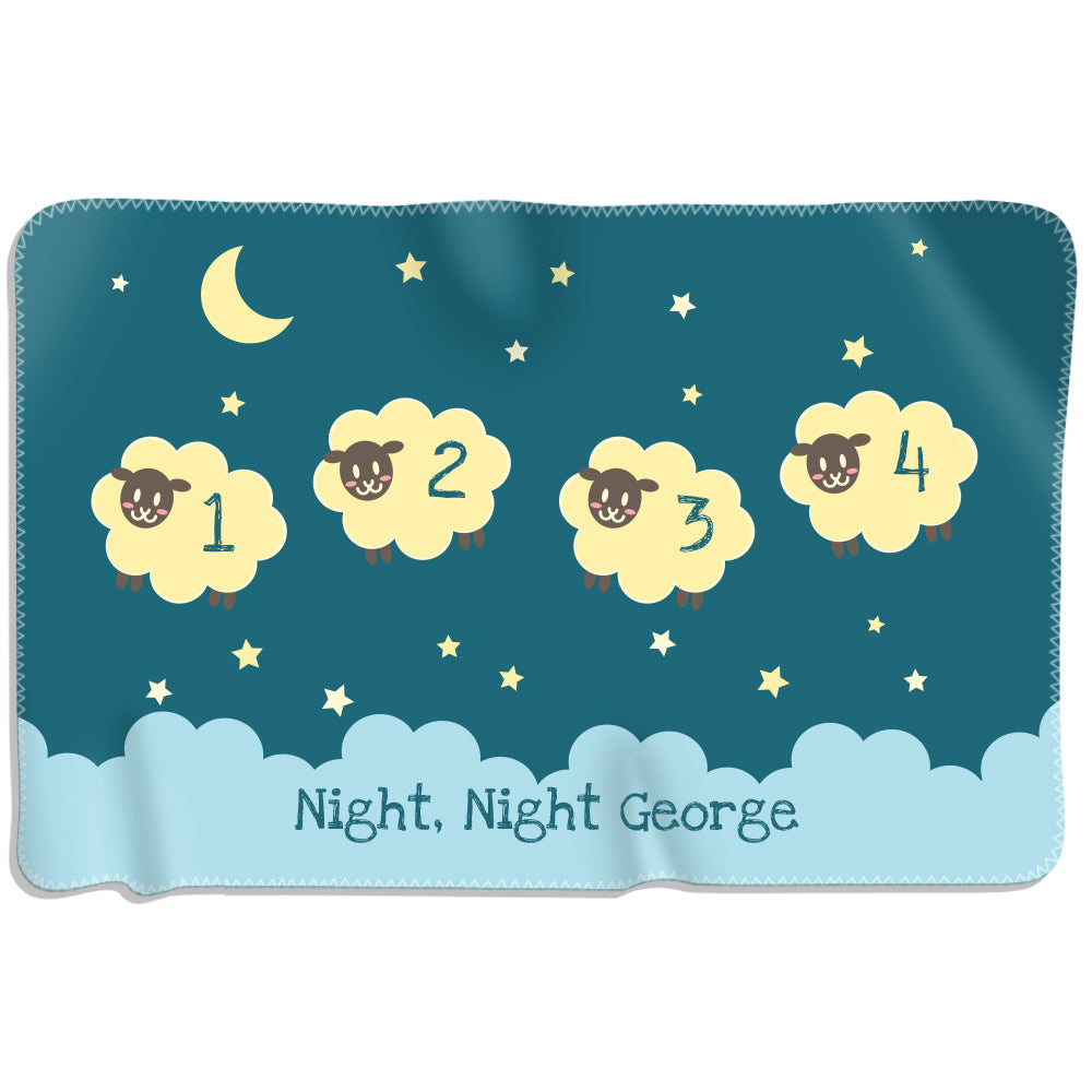 Night Night Sheep - Personalized Blanket