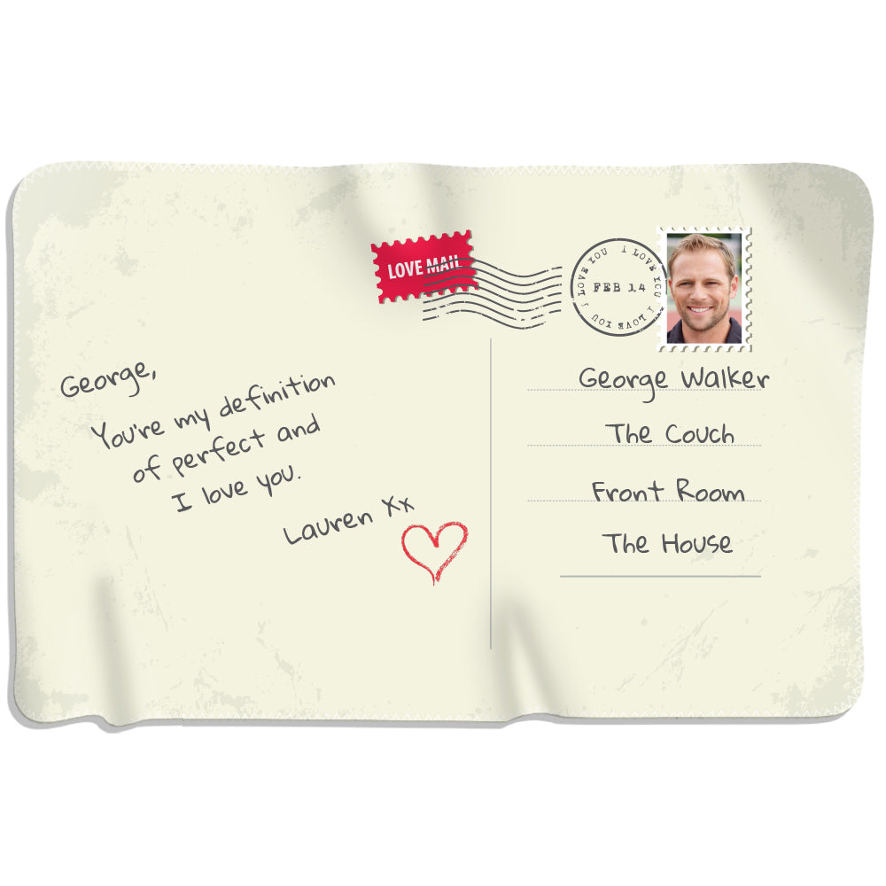 Love Postcard - Personalized Blanket