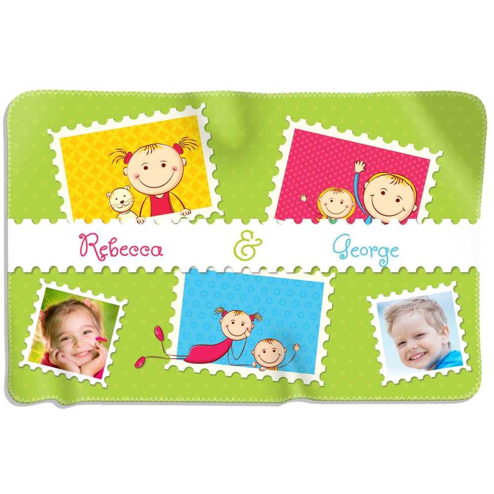 Kids Stamps - Personalized Blanket