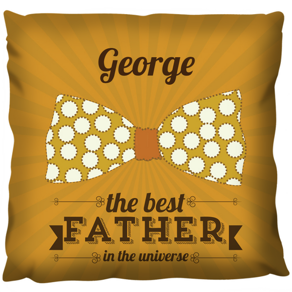 Bow Tie Best Father - Personalized Cushion