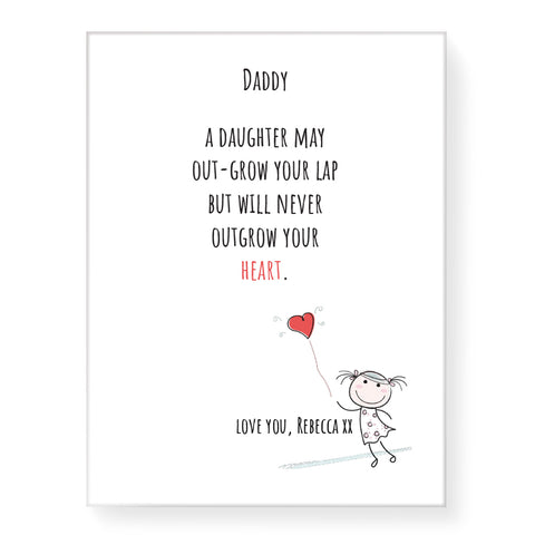 Never Outgrow Your Heart - Personalized Canvas