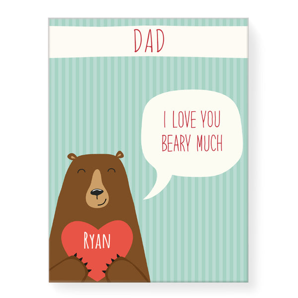 Love you Beary Much - Personalized Canvas