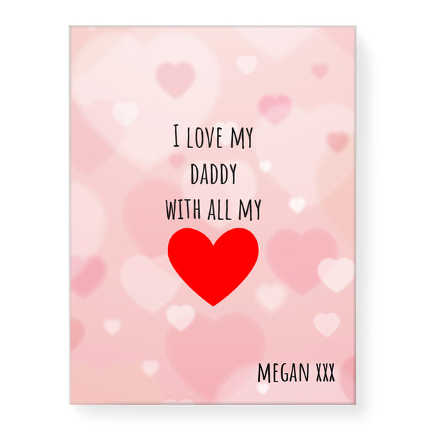 All of my Heart - Personalized Canvas