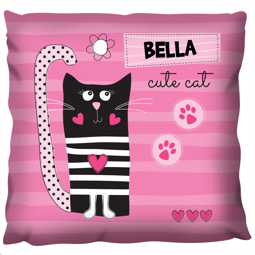 Cute Cat - Personalized Cushion