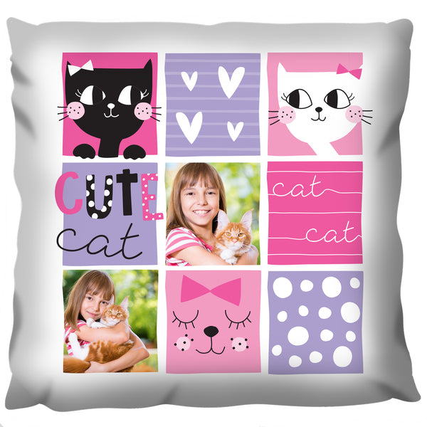 Cat Collage - Personalized Cushion