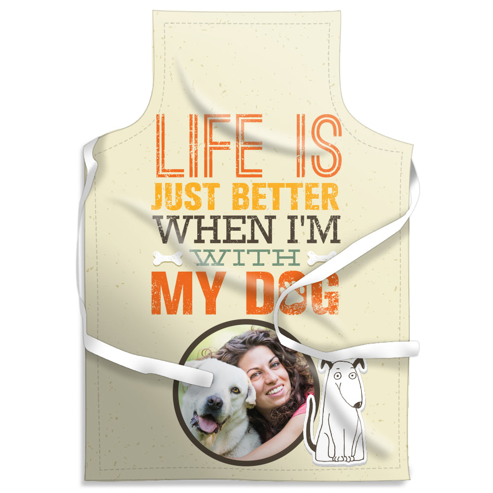 With My Dog - Personalised Adult Apron | Printzware