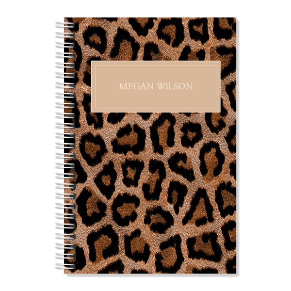 Leopard Pattern - Personalised A4 Notepad | Printzware