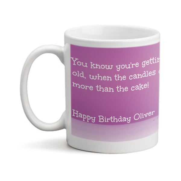 Birthday Candles  - Personalized Mug