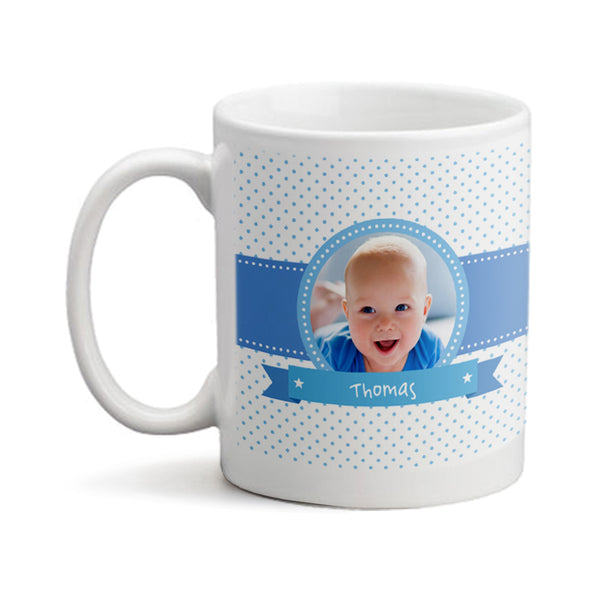 Baby Boy Photo Bear  - Personalized Mug