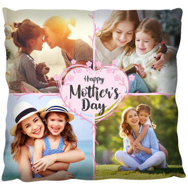 Happy Mothers Day Collage  - Personalized Cushion