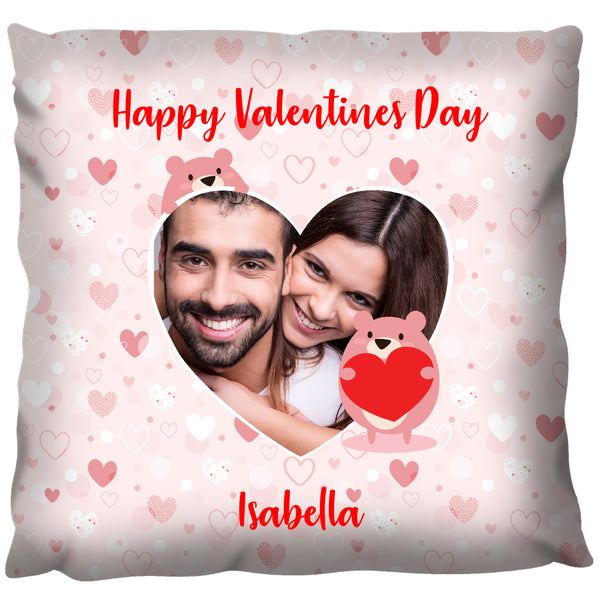 Valentine Love-heart Photo Cushion - Personalized Cushion