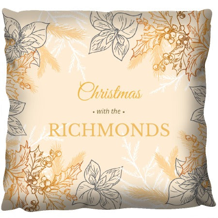 Christmas Gold - Personalized Cushion