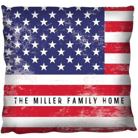 Stars and Stripes - Personalized Pillow