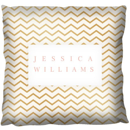 Gold Line Design - Personalized Cushion