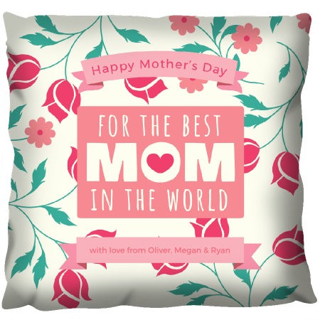 Mothers Day Flowers - Personalized Cushion