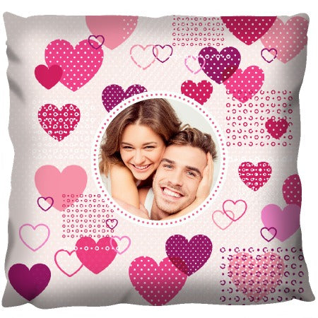 Love-heart Design with Photo - Personalized Cushion