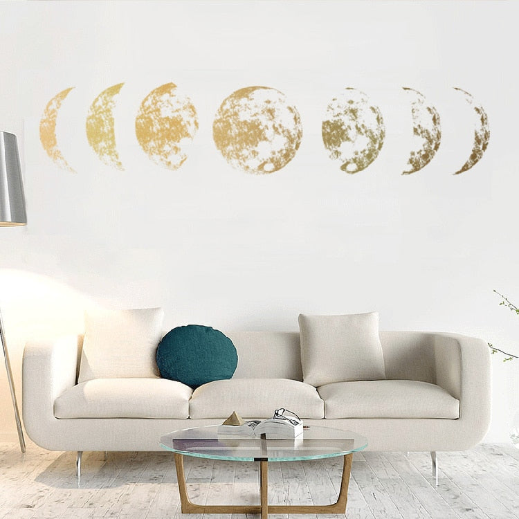 Creative Moon phase 3D Wall Sticker