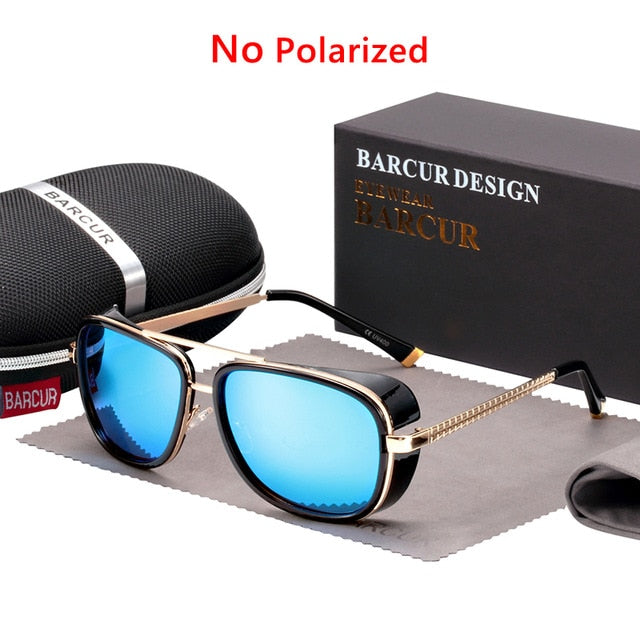 BARCUR Tortoise Sunglasses IRON MAN 3