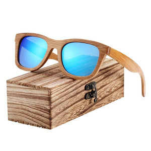 Open image in slideshow, BARCUR Bamboo Sunglasses Retro