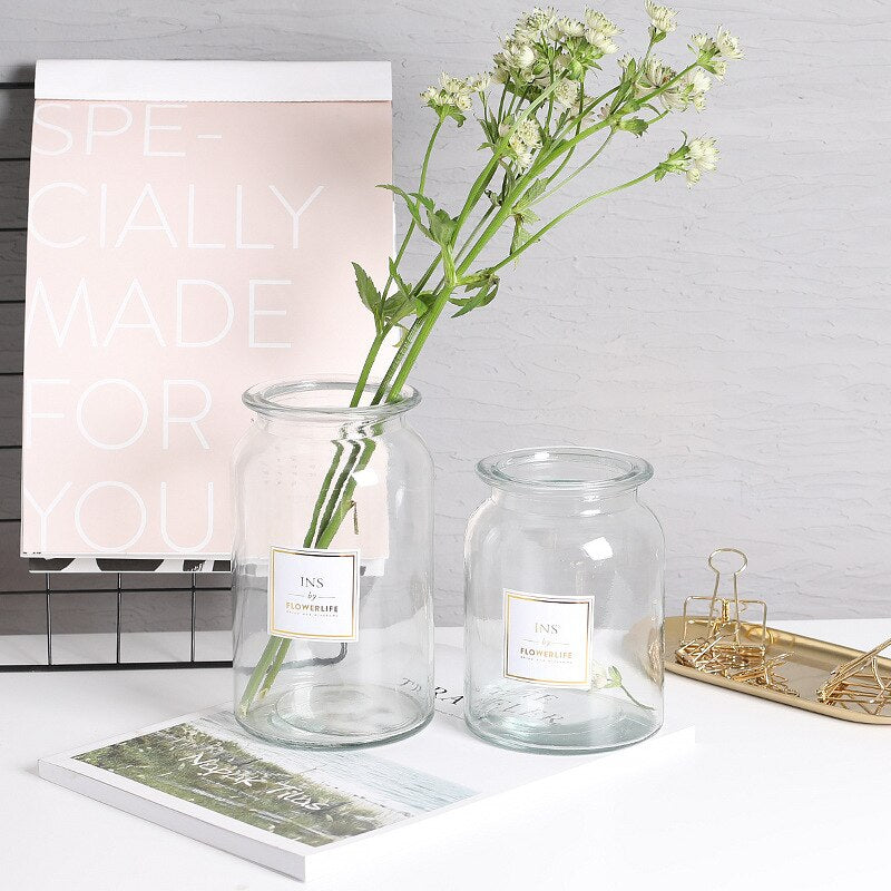 Nordic Design Glass Vase
