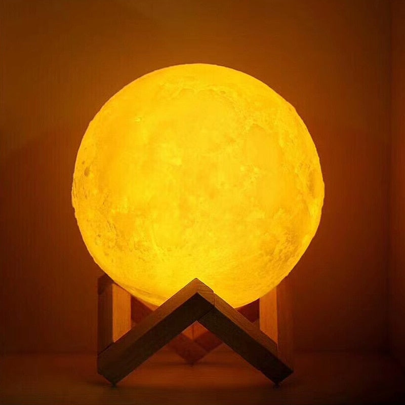 2 Colors Touch Moon Table Lamp