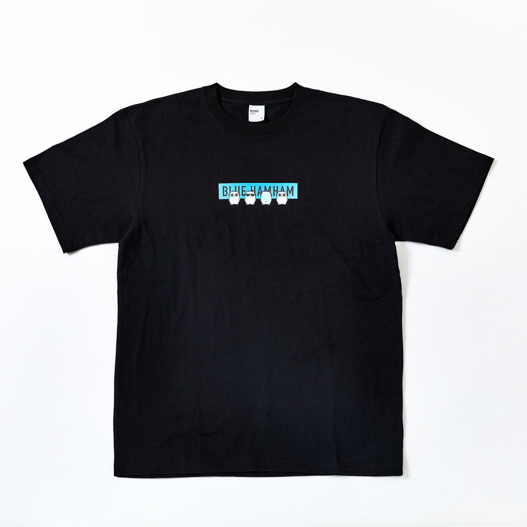 BOX LOGO TEE(BLACK x NEON BLUE)