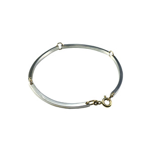 Silver and Gold Curve Bracelet