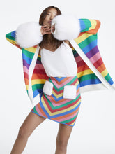 Load image into Gallery viewer, Rainbow Striped Mink Pocket Skirt
