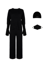 Load image into Gallery viewer, ECO: Black Round Neck Set