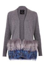 Load image into Gallery viewer, Grey Trim Cardigan with Embellished Cuffs