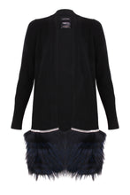 Load image into Gallery viewer, Black Mid-Length Embellished Trim Cardigan
