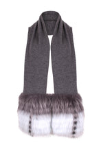 Load image into Gallery viewer, The Grey Trim Scarf