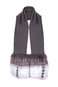 The Grey Trim Scarf