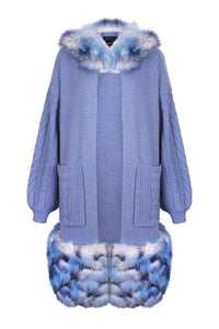 Blue Cable Sleeves Trim Coat