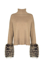 Load image into Gallery viewer, Caramel Embellished Cuff Sweater