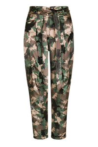 Camo High Waisted Tapered Pants