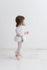 Little IA: Embellished Grey Trim Pants