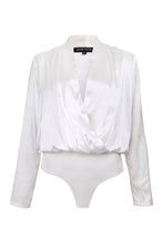 Load image into Gallery viewer, White Silk Bodysuit